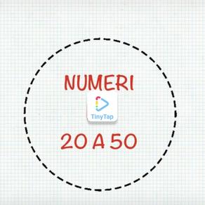 ESERCIZIO NUMERI DA 20 A 50
