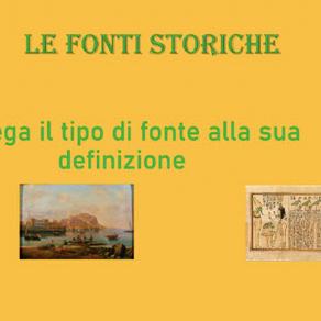 ESERCIZIO LE FONTI STORICHE