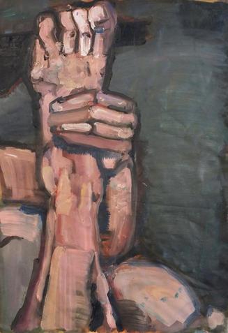 A Hand Holding A Leg