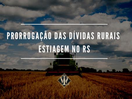 Medidas econômicas para ajudar produtores rurais afetados pela Estiagem.
