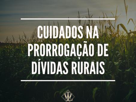 CUIDADOS NA PRORROGAÇÃO DE DÍVIDAS RURAIS
