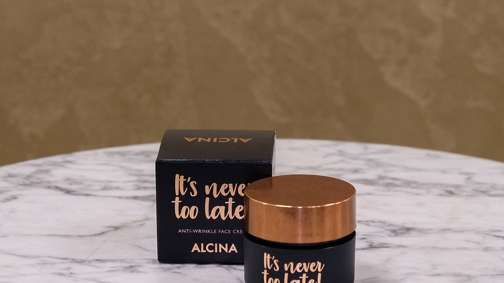 It's Never Too Late - Face Cream