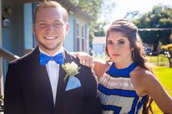 Doorstep prom couple