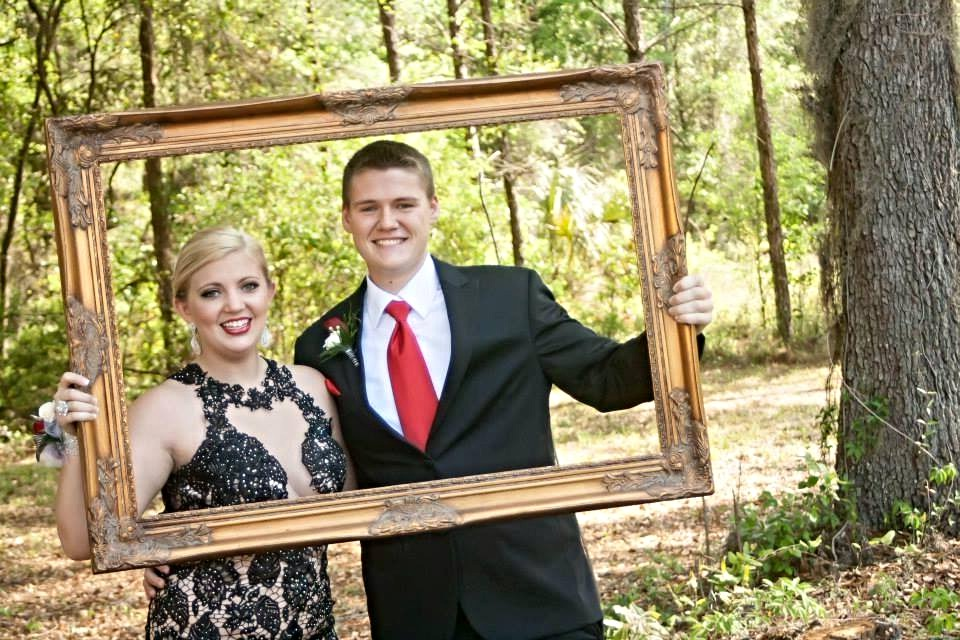 Picture frame in the woods