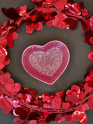 Hearts of Glitter Trinket Dish