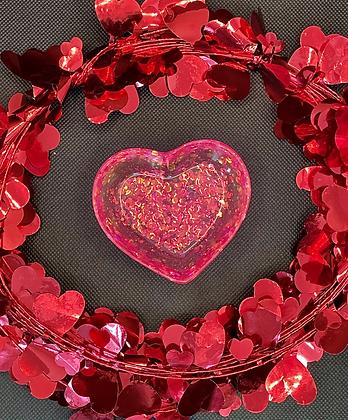 A Sparkling Heart Trinket Dish