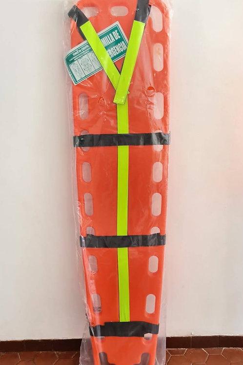 Camilla plástica 1.8 metros longitud color naranja