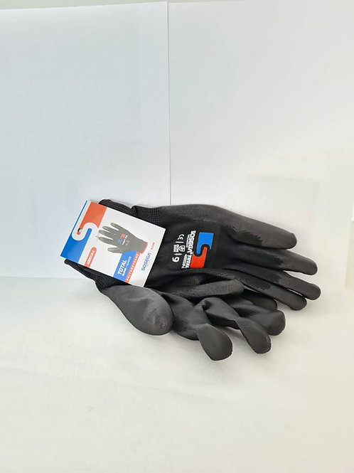 Guante fabricado en poliuretano negro marca Sosega