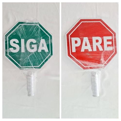 Paleta señalización PARE SIGA