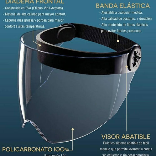 Careta en policarbonato 100 % con diadema frontal EVA