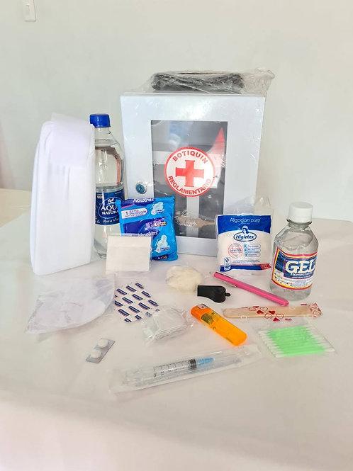 Botiquín primeros auxilios 18 elementos caja metálica