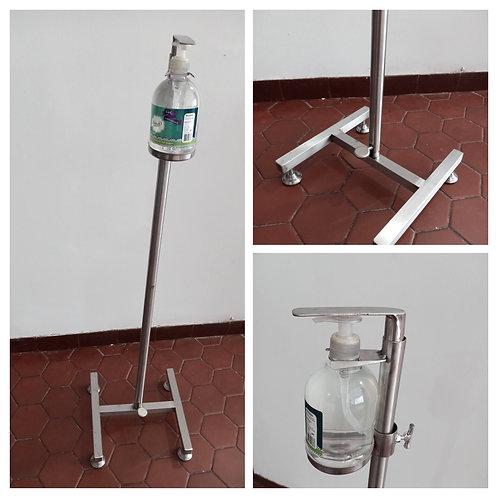 Dispensador de gel en acero inoxidable altura 115 cm