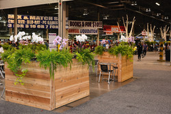 37.Cedar planter walls