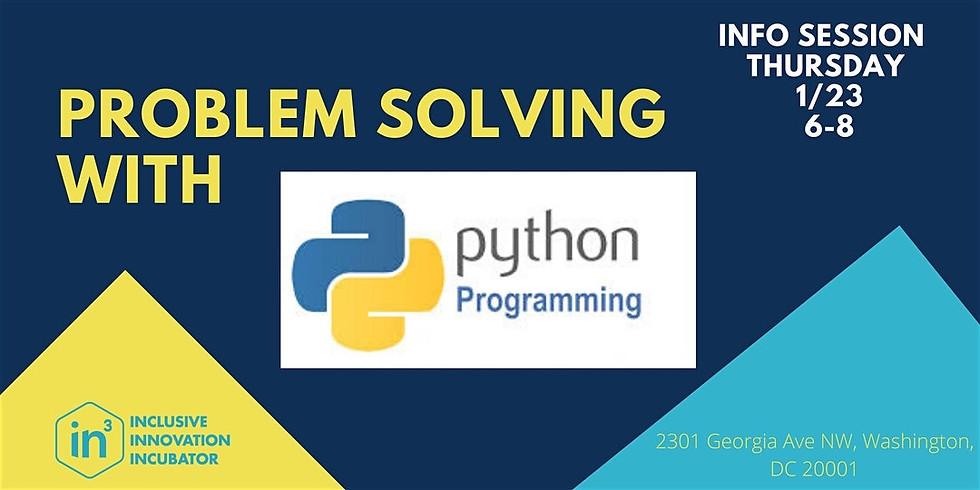 Python Info Session - #TheFutureIsWrittenInCode