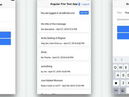 Integrating Firebase with AngularFire2 into Angular2 & Ionic2 - Part 2
