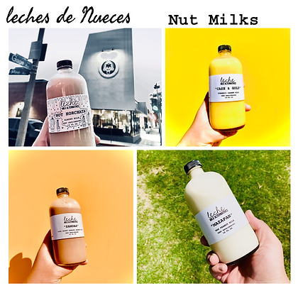 Leches de nueces (nut milks)