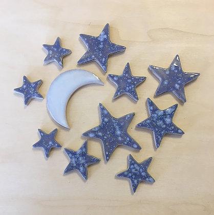 סט ירח וכוכבים (11 חלקים)