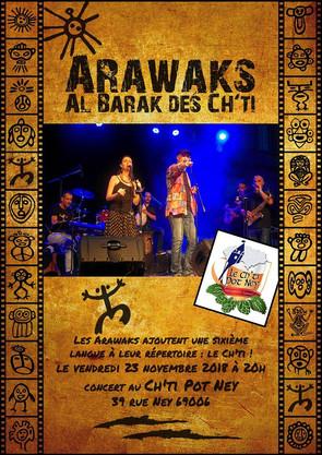 Arawaks en concert al barak des Ch'ti lyonnais :