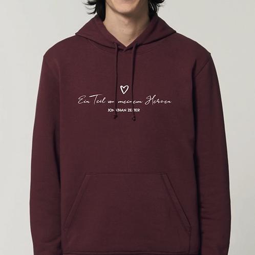 """Hoodie """"Ein Teil von meinem Herzen"""" (unisex/ vegan)"""