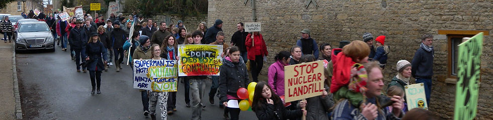 Village Protest Against Nuclear Landfill