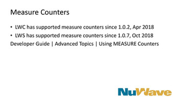 Measures Counters