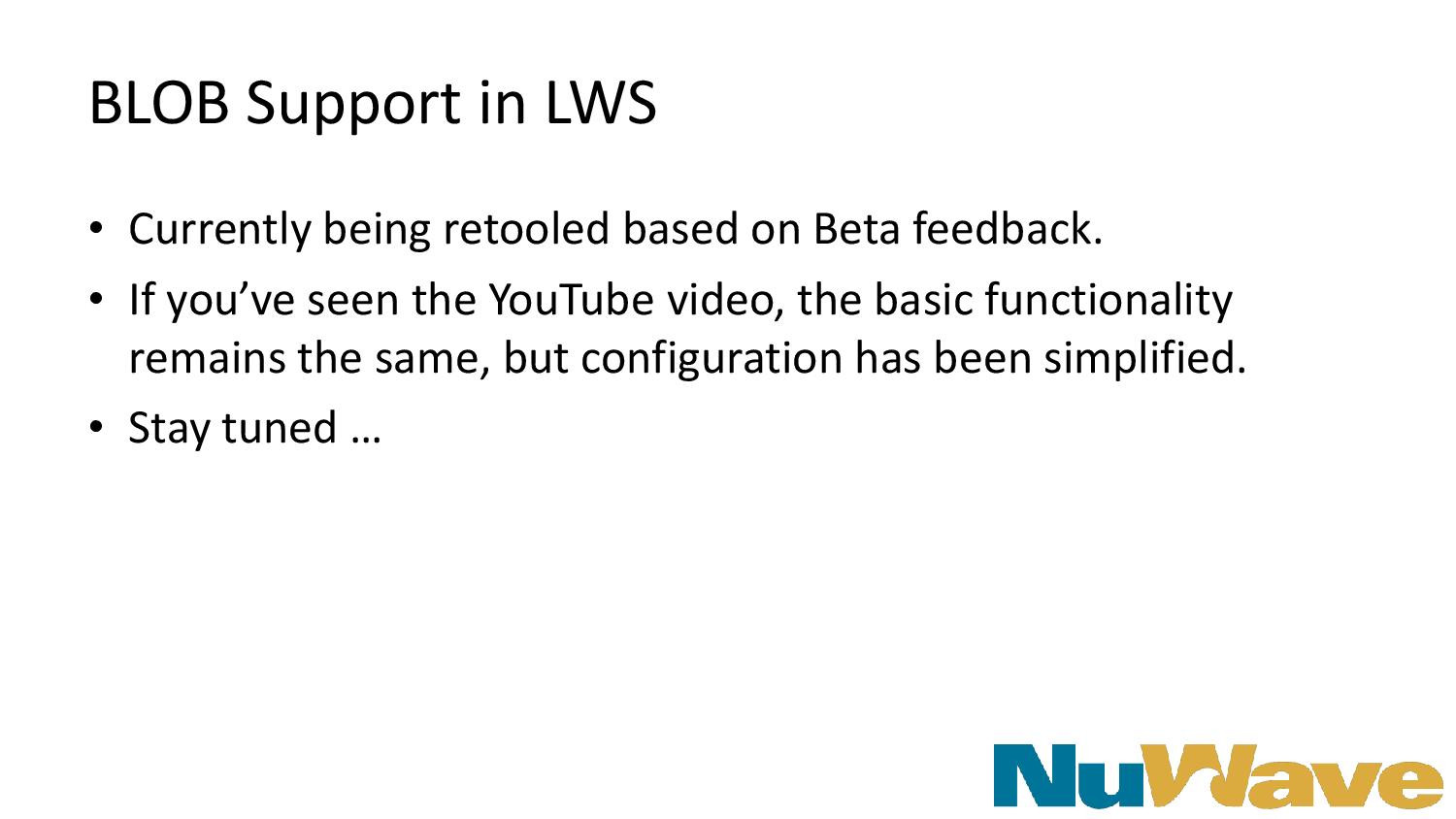 BLOB Support in LWS