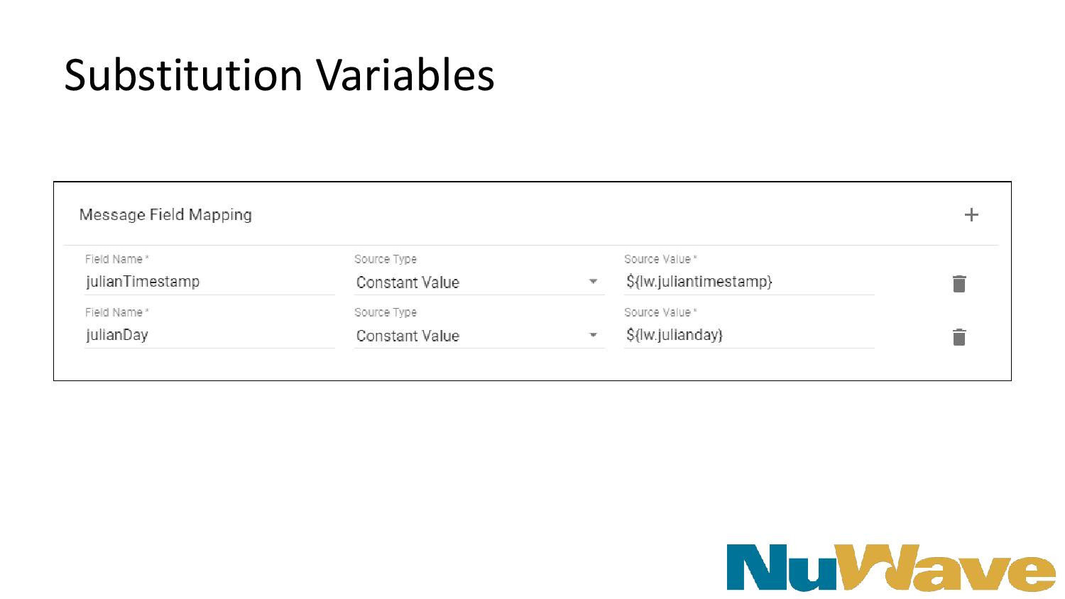 Substitution Variables