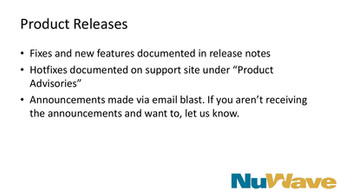Product Releases
