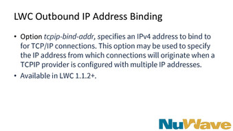 LWC Outbound IP Address Binding