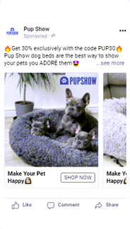 Carousel - ad copy(Pup Show dog beds are the best ).png