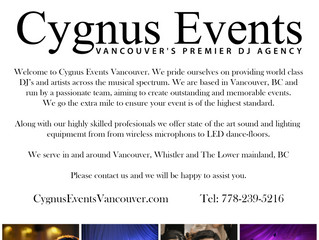 Cygnus Events Vancouver will be providing DJ's, sound and LED dance floor lighting for Bridal Fa