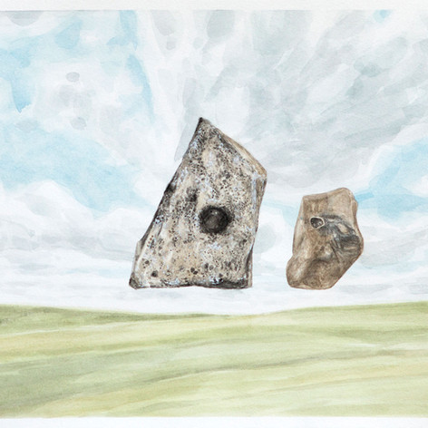 Two Rocks with Holes