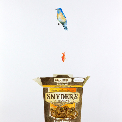 Blue Bird, Goldfish, Pretzel Box