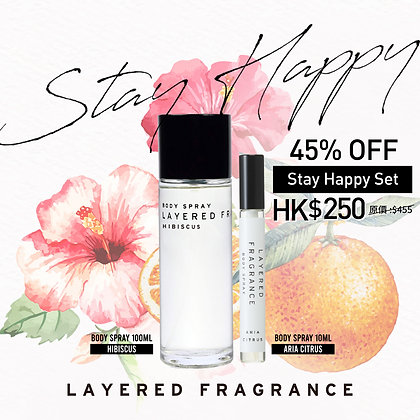 Layered F. Stay Happy Body Spray Set