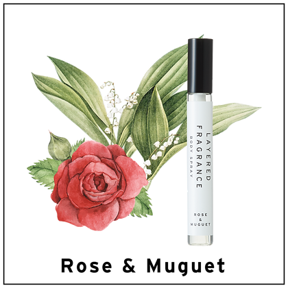 Body Spray 10ml - Rose & Muguet