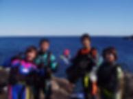 伊豆大島でのダイビング講習風景