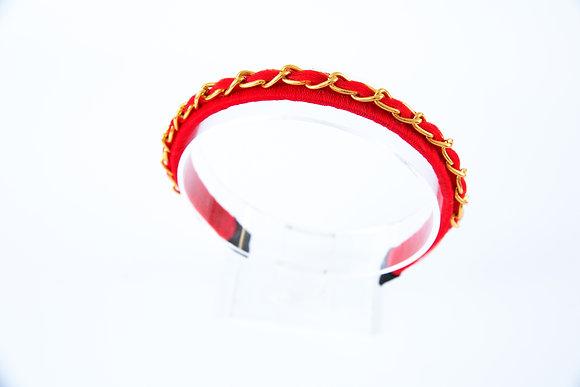 קשת שרשרת לולאות זהב -אדום