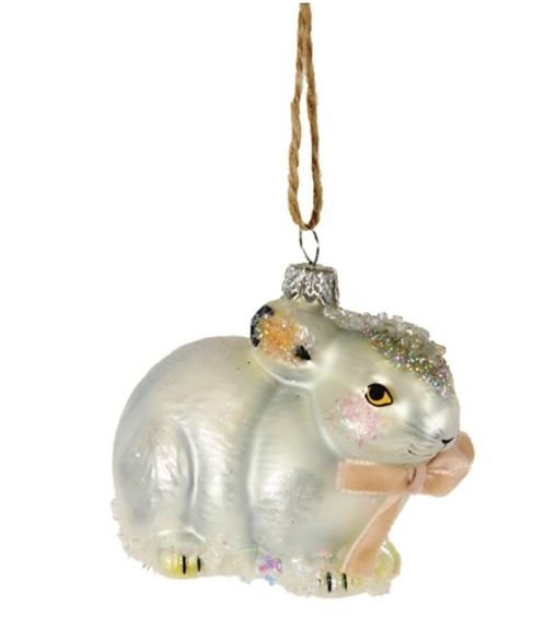 Jeweled Hare Ornament