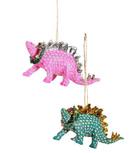 Merry Stegosaurus Ornament