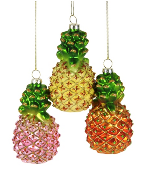 Bejeweled Pineapple Ornament