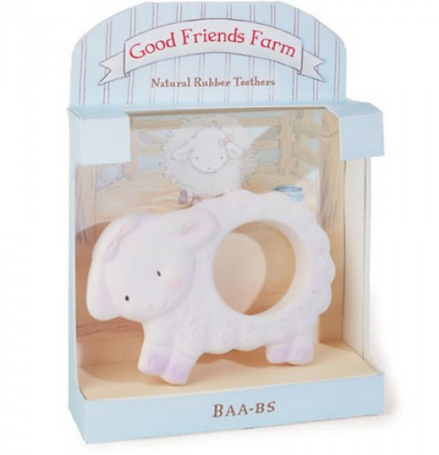 Bunnies by the Bay Natural Rubber Teether