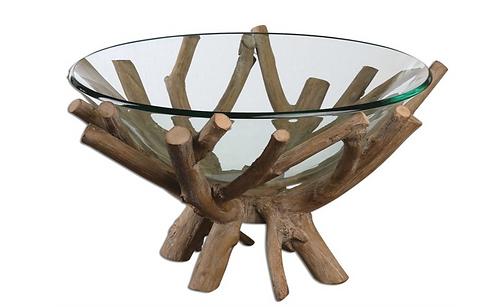 Driftwood & Glass Bowl