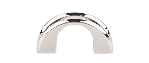 Top Knobs Tango U Finger Pull in Polished Nickel