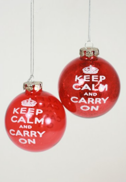 """Keep Calm"" Ball Ornament"