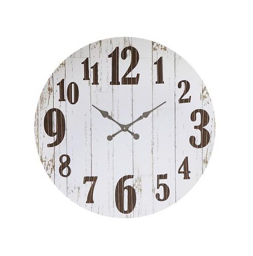White Wood Barn Clock