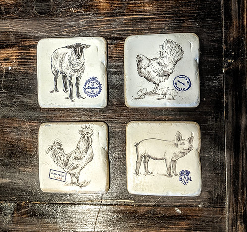Chad Barrett Farm Animal Coasters