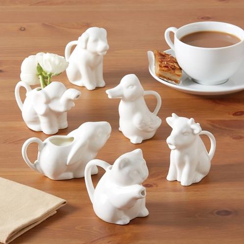 Two's Company Animal Kingdom Porcelain Pitchers