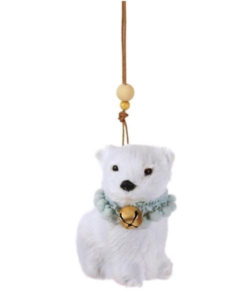 Soft Arctic Polar Bear Ornament