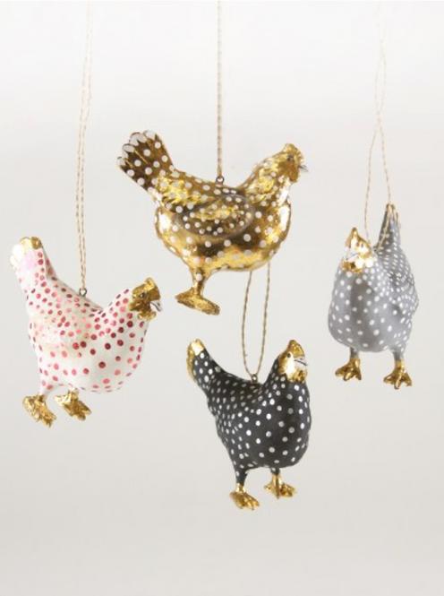 Merriment Hen Ornament