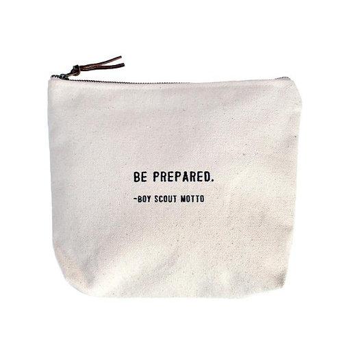 Be Prepared Canvas Zip Bag